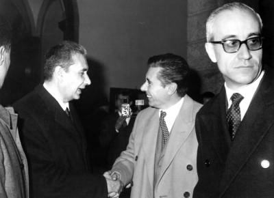 La cérémonie d'inauguration le 23 mai 1964 en présence du Premier Ministre Aldo Moro.