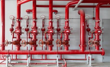 Tube chaudière peint en rouge